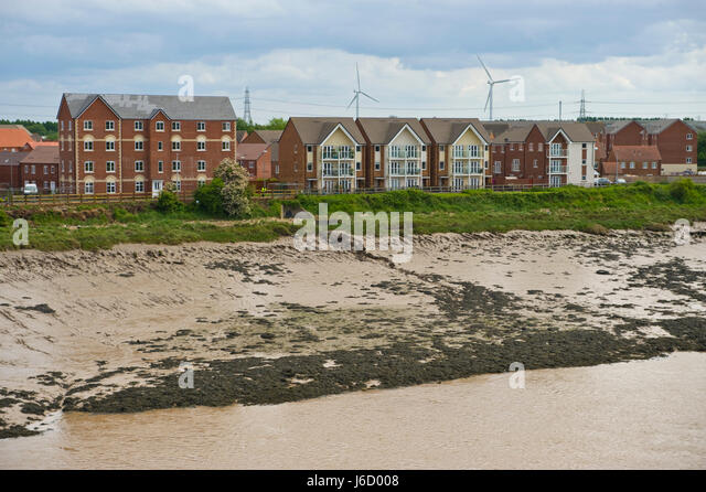 Taylor Wimpey Lysaght Village housing development on brownfield former steelworks site in Newport, South Wales, - Stock Image