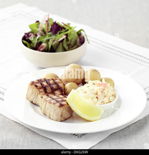 Grilled Tuna - Stock Image