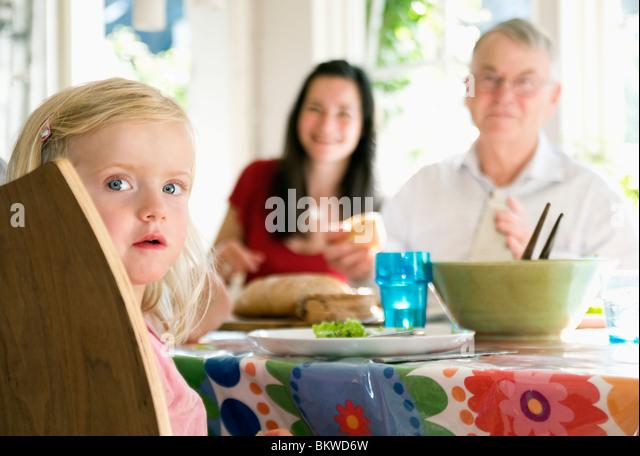 Dinner with family - Stock-Bilder