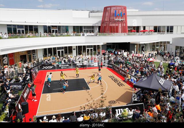 Tokyo, Japan. 17th June, 2017. General view Basketball : 33 PREMIER.EXE 2017 Season TACHIKAWA Eastrn Conference - Stock Image
