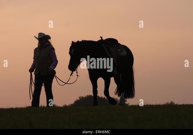 Cowgirl silhouette stock photos amp cowgirl silhouette stock images