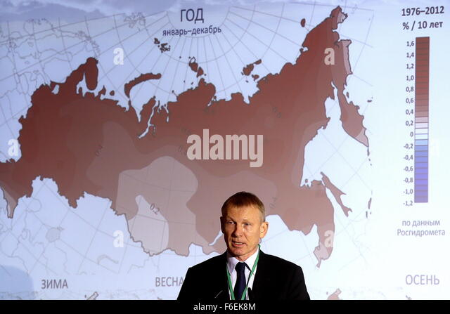 Moscow, Russia. 17th Nov, 2015. Alexander Frolov, head of Roshydromet (Russian Federal Service for Hydrometeorology - Stock Image