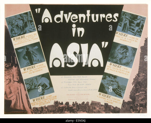 ADVENTURES IN ASIA, 1930s - Stock Image