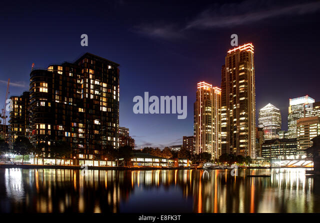 London, UK Canary Wharf - Stock Image