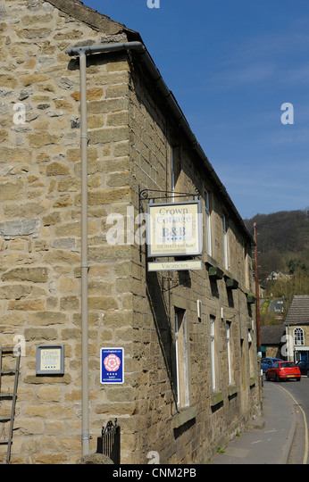 crown cottage bed and breakfast eyam derbyshire england uk - Stock Image