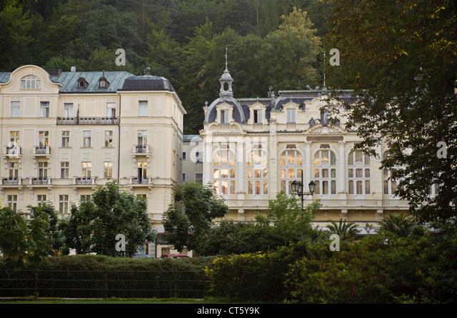 Hotel in Karlovy Vary - Stock-Bilder