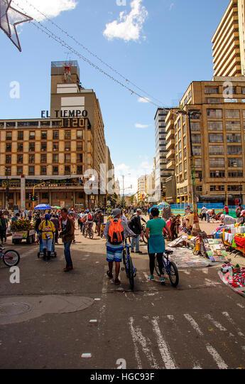 City street of Bogota - Stock Image