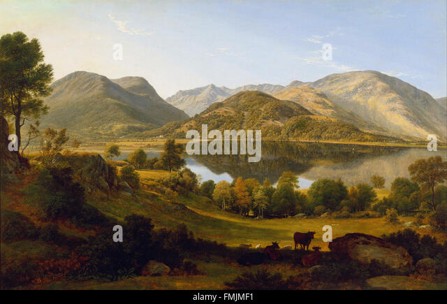 John Glover - Ullswater, early morning - Stock Image