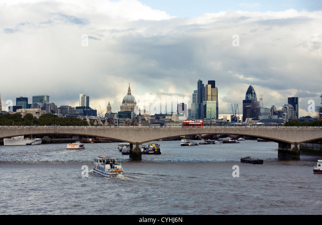 Waterloo Bridge, London, United Kingdom - Stock Image