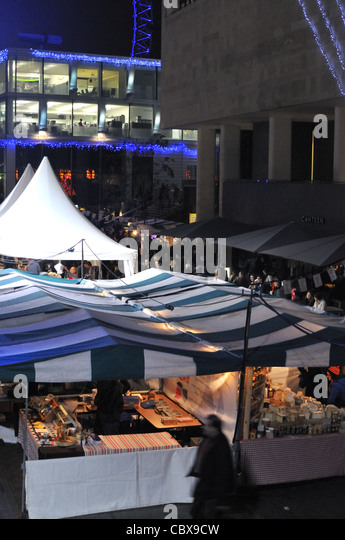South Bank Centre festive food market and festival 2011, London, UK. - Stock Image