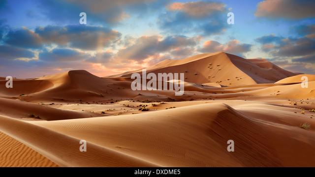 Sahara sand dunes of erg Chebbi, Morocco, Africa - Stock-Bilder