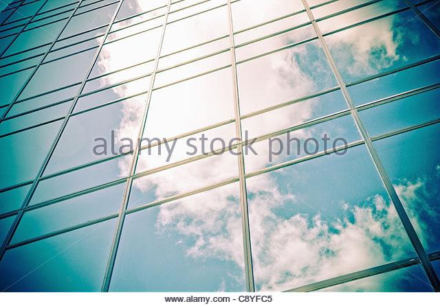 modern corporate glass building - Stock-Bilder