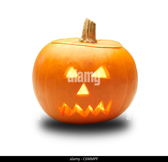 a cutout halloween lit glowing pumpkin turnip lantern isolated on a white background with clipping path - Stock Image