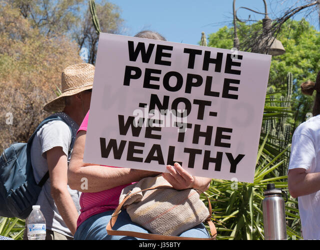 People's Climate March in America, Tucson, Arizona, USA. - Stock Image