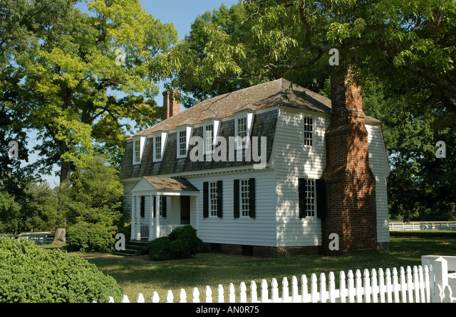 virginia va usa yorktown moore house colonial national historic park museum - Stock Image