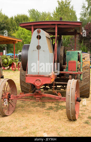 Chinese Antique Tractors : Museum tractor stock photos images
