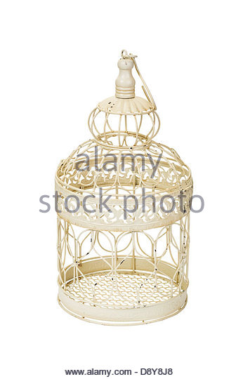 Decorative antique reproduction birdcage - Stock Image