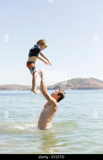 Family holiday, Liberia, Guanacaste, Costa Rica - Stock Image