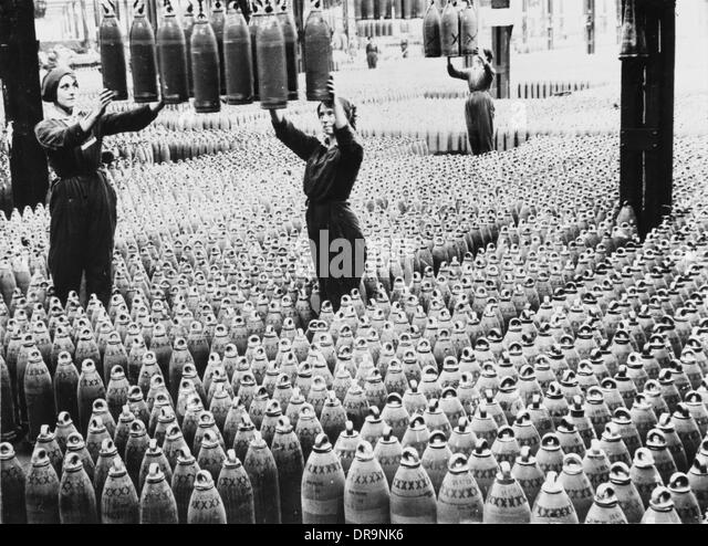 Women workers, World War I - Stock-Bilder
