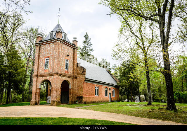 St. Peter's Parish Church, 8400 St. Peters Lane, near Talleysville, New Kent, Virginia - Stock Image