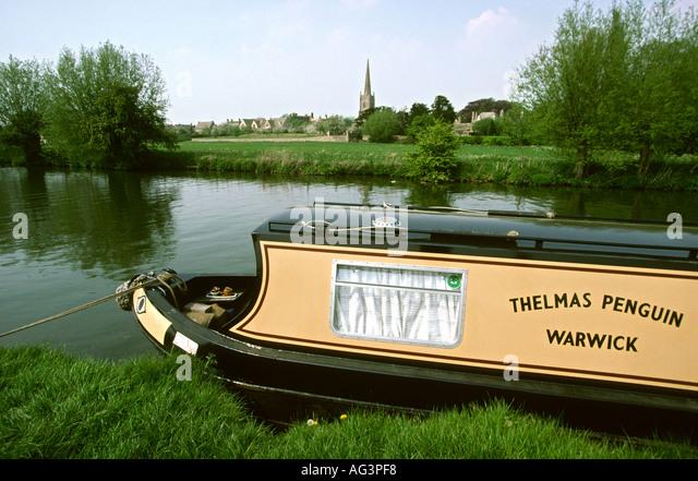 Traditional Narrowboat Cabin England Uk Stock Photos