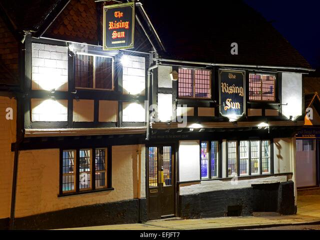 The Rising Sun pub, Winchester, Hampshire, England UK - Stock Image