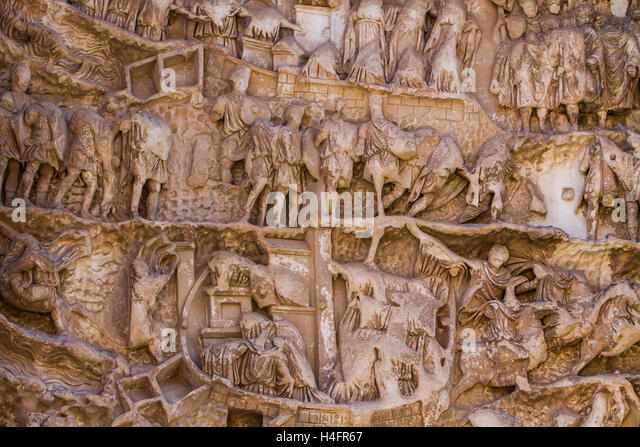 Relief Arch Septimius Severus Roman Stock Photos & Relief ...
