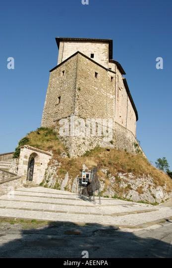 Castello di Frontone Le Marche Italy - Stock Image