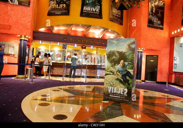 Mendoza Argentina Villa Nueva Mendoza Plaza Shopping indoor mall shopping center centre cinema movie theater theatre - Stock Image