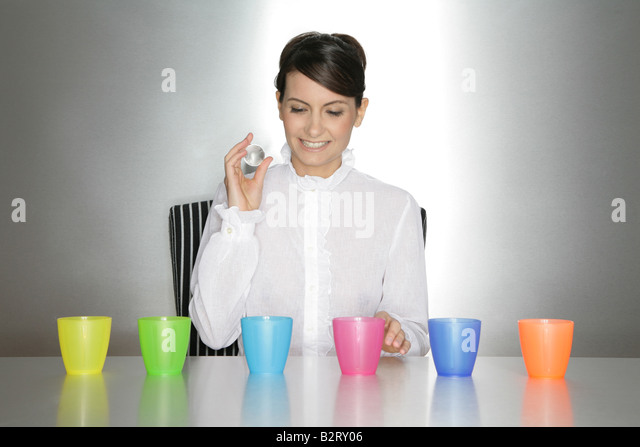 Businesswoman aged 24 making a decision - Stock Image