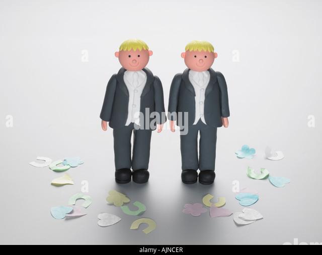 Wedding cake decoration figures - Stock-Bilder
