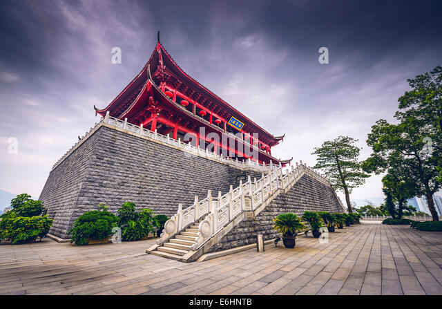 Fuzhou, China at the historic Zhenhai Tower. - Stock-Bilder