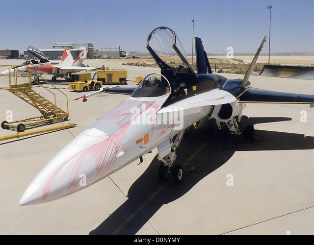 F-18 Used in Angle of Attack Research - Stock Image