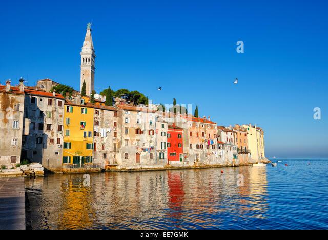 Rovinj old town in Istria, Croatia. - Stock Image