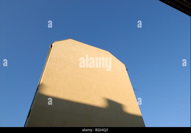 YELLOW GABLE - Stock Image