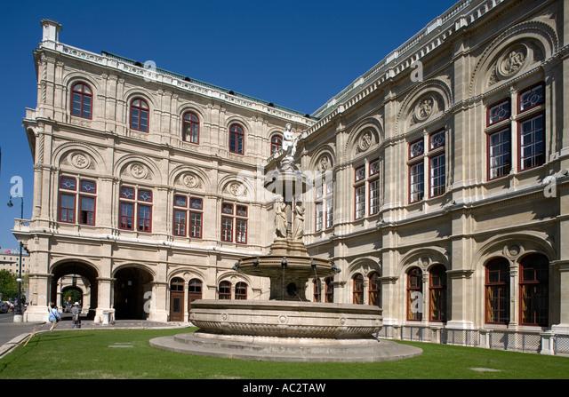 Vienna Opera house facade - Stock Image