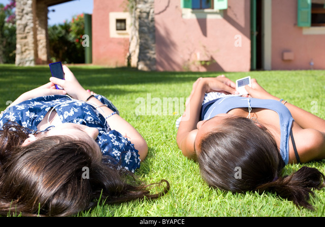 Kids on holiday - Stock Image