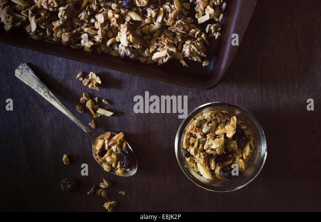 Home made Granola - Stock-Bilder