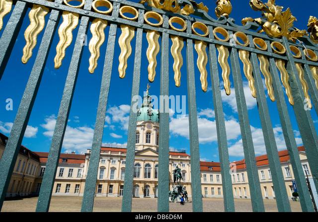 Schloss Charlottenburg in Berlin Germany - Stock Image