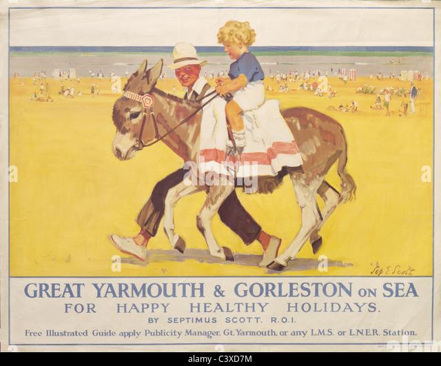 Great Yarmouth and Gorleston on sea, by Septimus Scott. England, early 20th century - Stock-Bilder