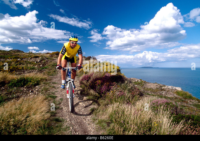 Mountainbiker, Howth, Dublin, Ireland, Europe - Stock-Bilder
