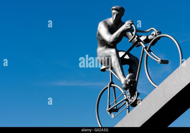 Cyclist of the early twentieth century - Stock Image