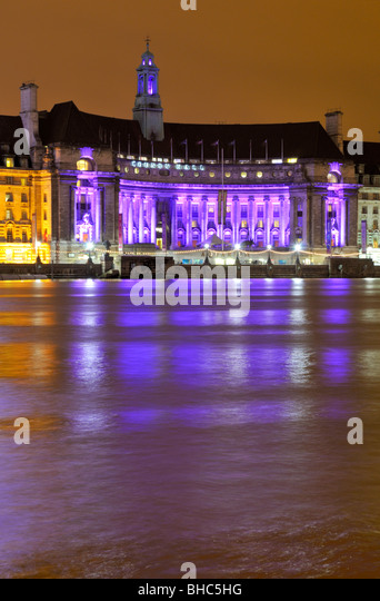 County Hall, South Bank, London SE1, United Kingdom - Stock Image