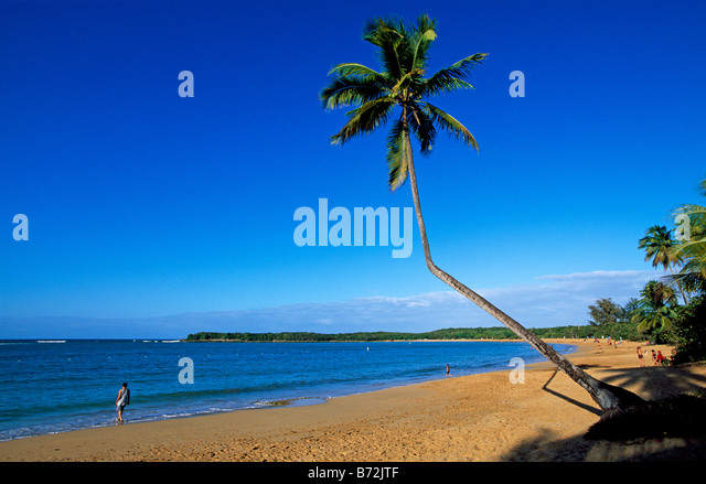 Tres Palmitas Beach Loiza Puerto Rico Caribbean - Stock Image
