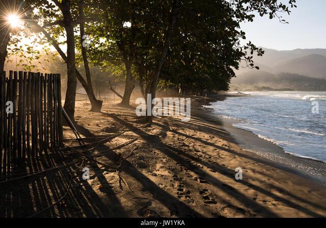 Castelhanos Beach in Ilhabela - Stock Image
