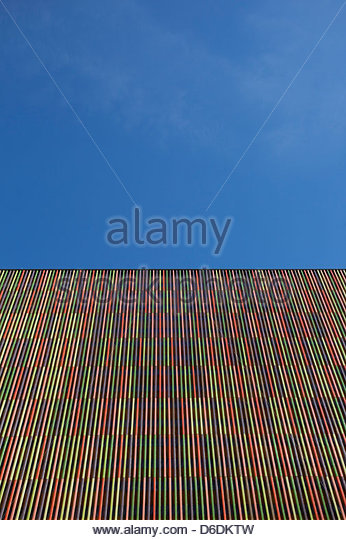 Striped modern building abstract architecture - Stock Image