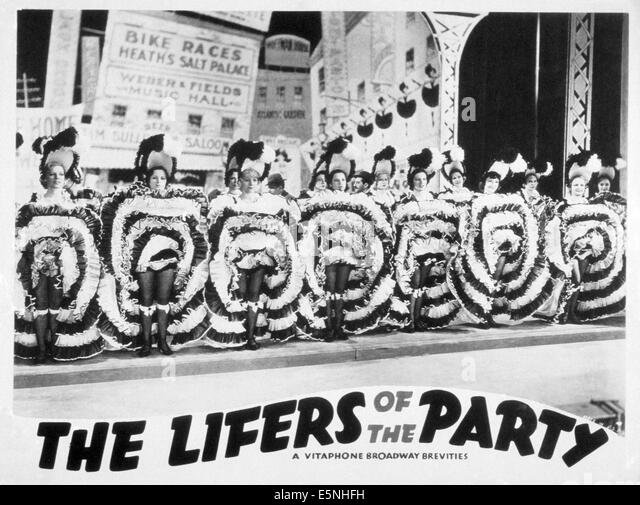 THE LIFERS OF THE PARTY, 1930s - Stock Image