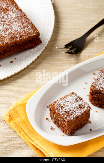 Castagnaccio, Traditional Italian Cake Made from Chestnuts - Stock Image