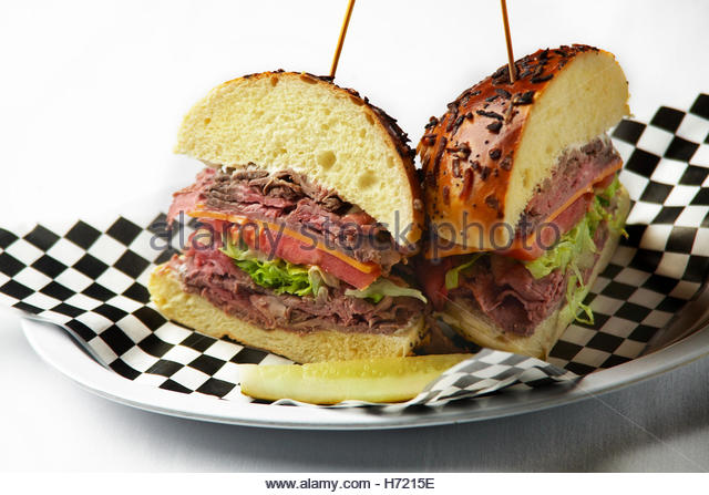 Roast beef sandwich - Stock Image
