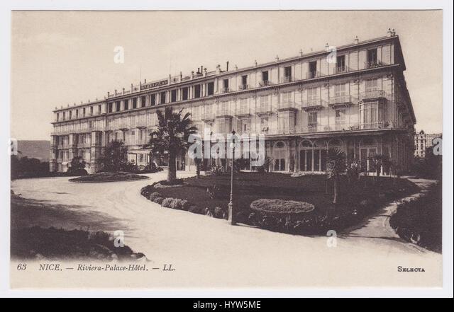 Riviera Palace Hotel, Nice, France - Stock Image